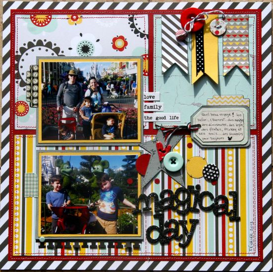 #papercraft #Scrapbook #layout #Disney   Magical Day - Scrapbook.com