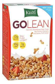 •13g Protein  •10g fiber   •Low in Fat—1g  •8g of whole grains. Just bought some today. Love this stuff!