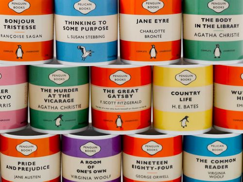 Penguin book mugs