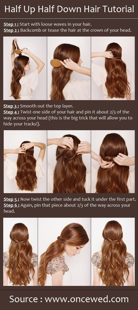 Half Up Half Down Hair Tutorial