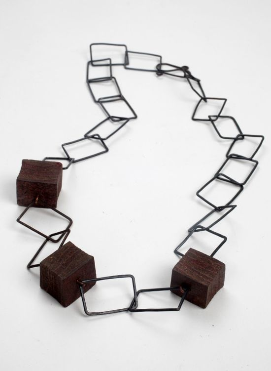 Anna hall - Original Brew Necklace - Compressed teabag beads with black copper