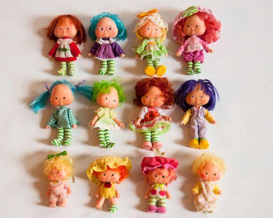 12 Vintage 1970s Strawberry Shortcake Dolls