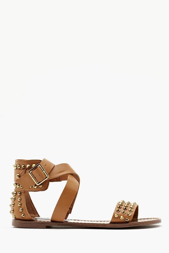 Buddies Studded Sandal in Camel