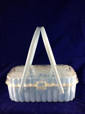 A pale blue cutie! #vintage #handbags #purses #accessories #lucite #1950s