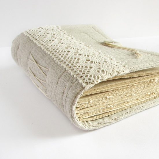 Gray Lace Handmade Journal by ArtStitch