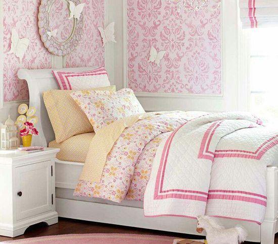 Cute girl bedroom love the butterflies