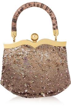 Miu Miu Lizard and sequin handbag