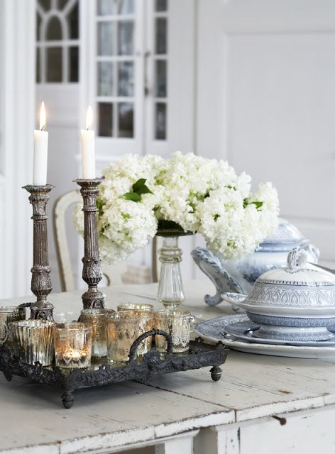 mercury glass and #candles ...