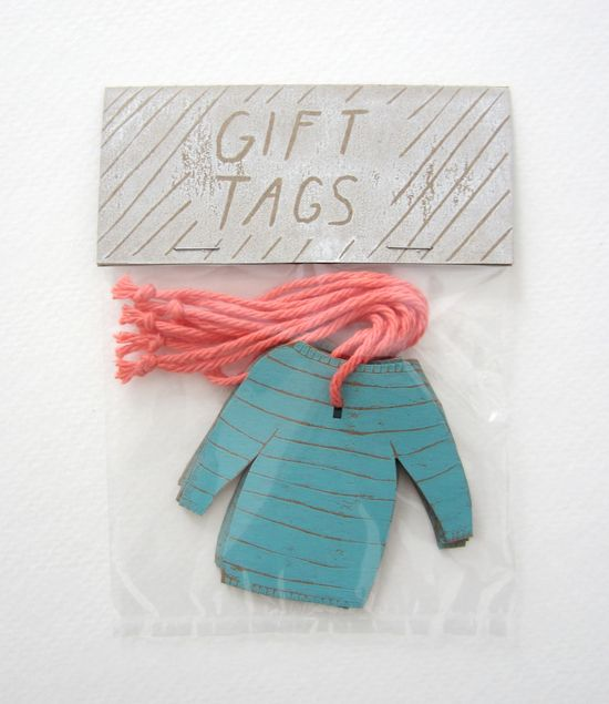 Sweater gift tags by UpperTiny