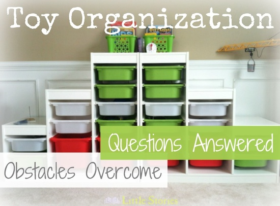 Toy Organization & Rotation - How to get organized when you have lots of kids, lots of toys, and tons of small parts!