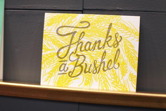 thanks a bushel card!