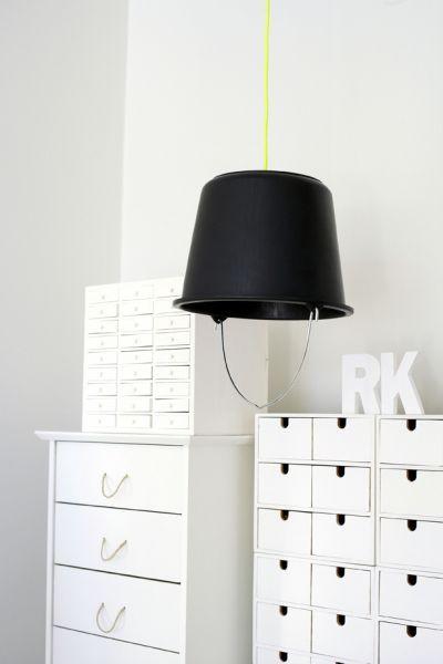 DIY: Bucket lamp #interior decorating #home interior design 2012