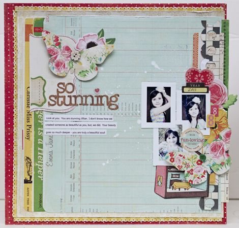 Jaime Warren, Crate Paper Blog. Step by step instruction on how layout was created.