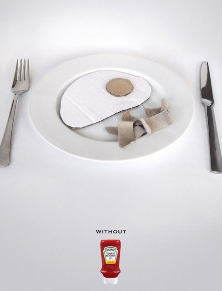 Heinz Ketchup Ad - Without Ketchup repinned by www.BlickeDeeler.de