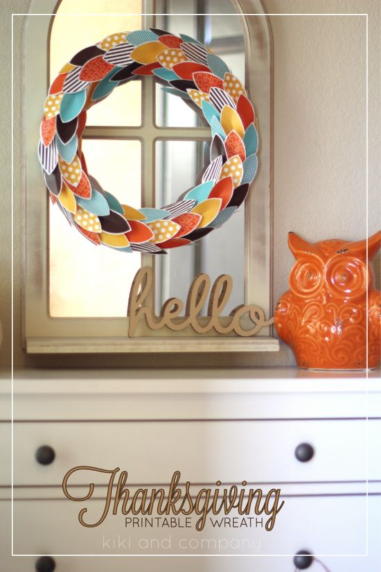 Thanksgiving printable wreath. Can't wait to make it!
