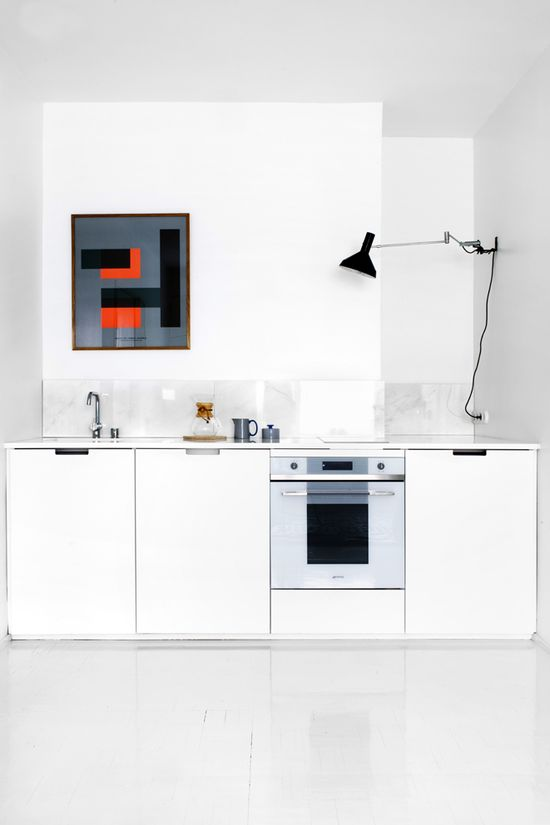 White & graphic kitchen