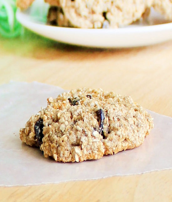No flour, no butter, no eggs! Oatmeal Raisin Cookies.