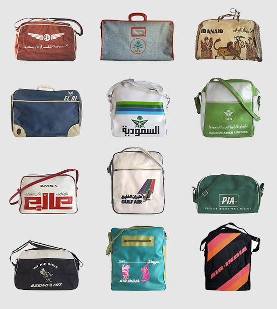 A selection of crew bags from different airlines, found on  www.underconsider.... ../index.php?page=17