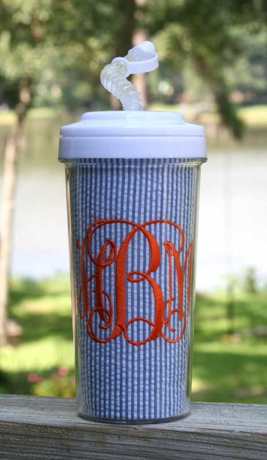 Monogramed Cup. So cute!