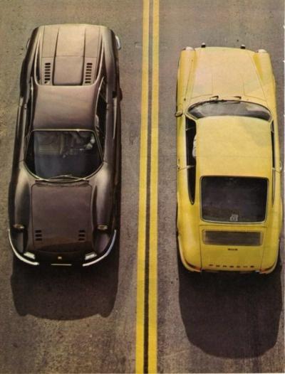 Ferrari Dino 246GT and Porsche 911S