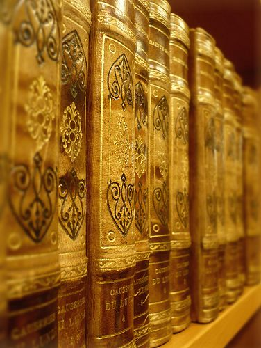 Gold Leather Book Covers