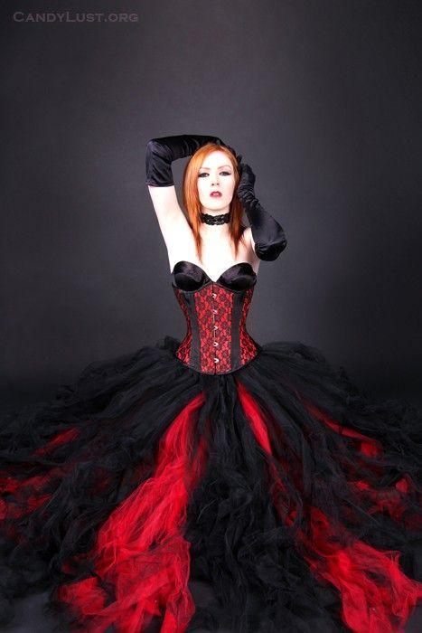 Gothic Bridal skirt floor length tulle by MTcoffinzUnderground, $150.00