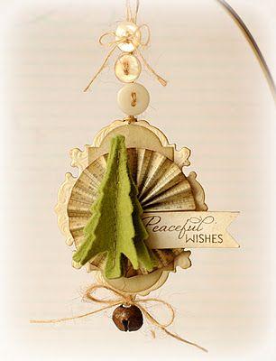 Handmade paper ornament.