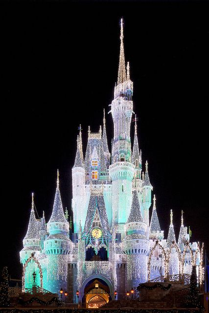 WDW - Cinderella Castle with Christmas Dream Lights: by Todd H