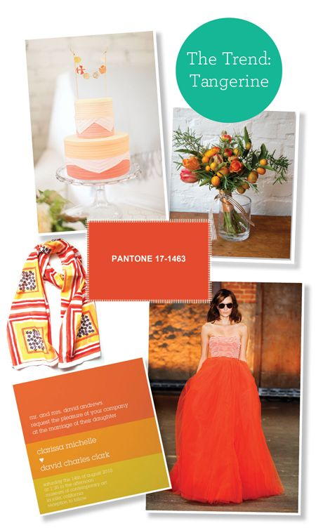 Tangerine #wedding ideas