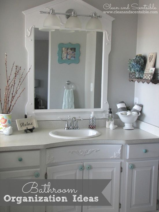 Clean & Scentsible: Bathroom Organization Ideas {The Household Organization Diet}