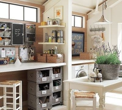 Crazy office design ideas laundry room craft room office for Office craft room design ideas