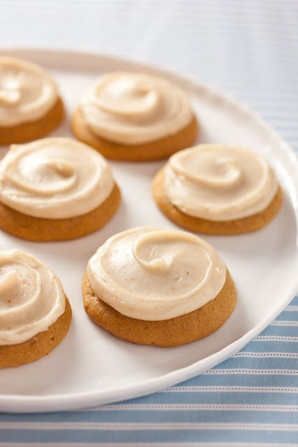 Pumpkin Cookies with Browned Butter Icing - Cooking Classy
