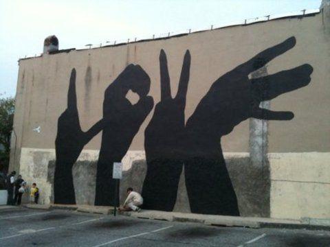 love sign language graffitti. #art #graffitti