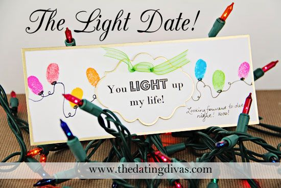 Show your hubby that he is the LIGHT of your life with this fun date night. www.TheDatingDiva... #datenight #Christmas #datingyourspouse
