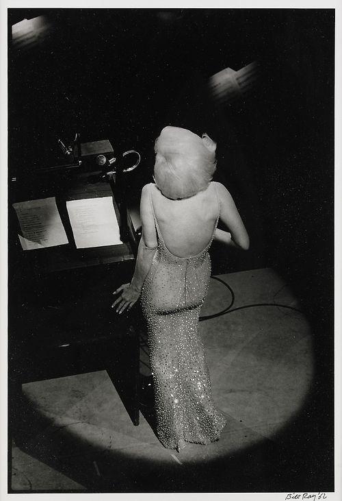 Marilyn Monroe singing 'Happy Birthday, Mr. President', 1962. Photo: Bill Ray.