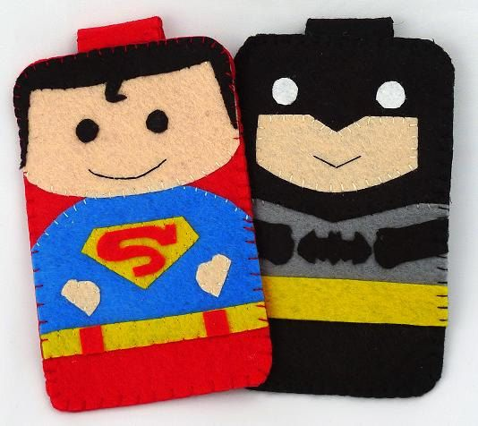 Hero collection Handmade Superman iphone, iphone 4S felt cell phone case
