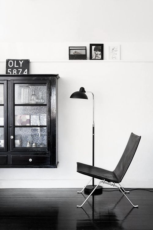 black and white #interior
