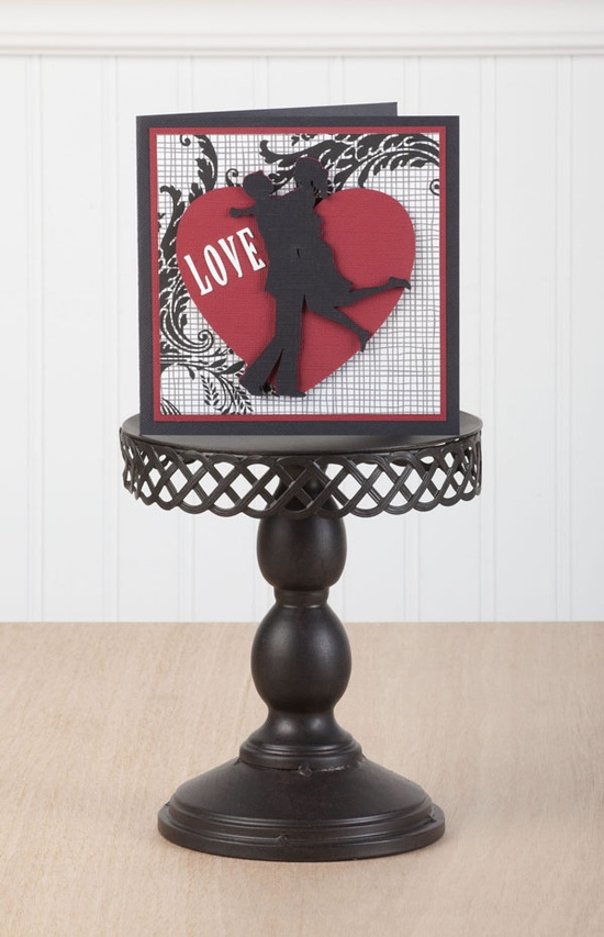 LOVE card made with the #Cricut machine! This would be a simple card for your special someone!