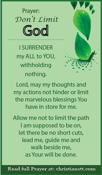 Let us not limit God