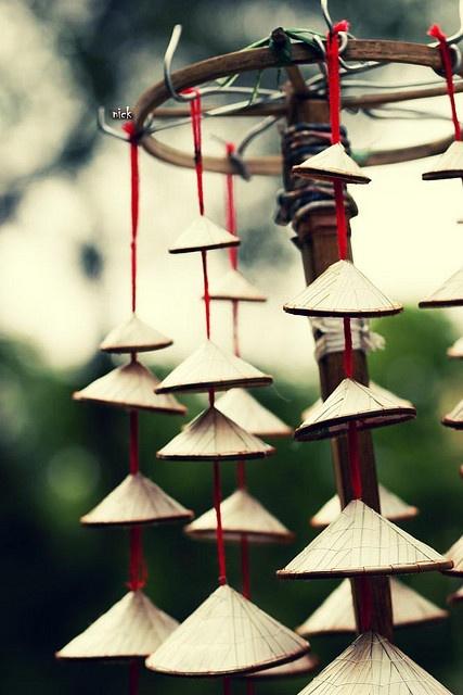 The triangle hat. Vietnam. Souvenir.