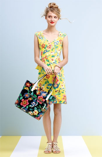 kate spade new york wrap dress & accessories