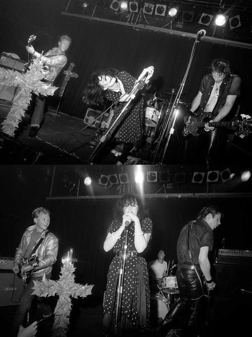 X live at Danceteria, photo Eugene Merinov NYC 1980