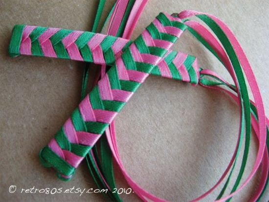 80s ribbon barrettes in awesome 80s colors!