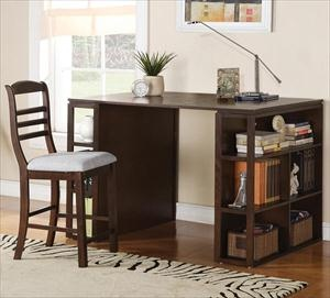 tall writing desk with shelves