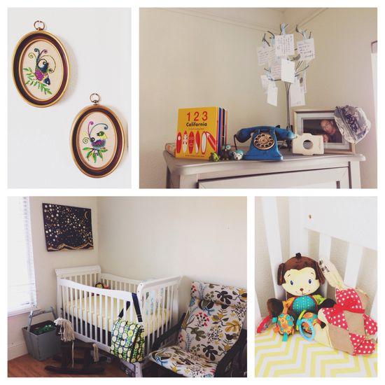 Vintage baby boy nursery