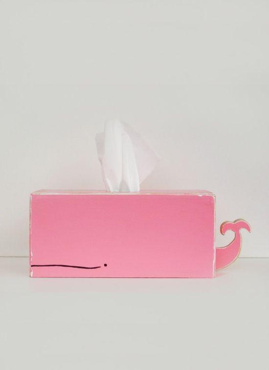 Whale Tissue Holder...pink too xx