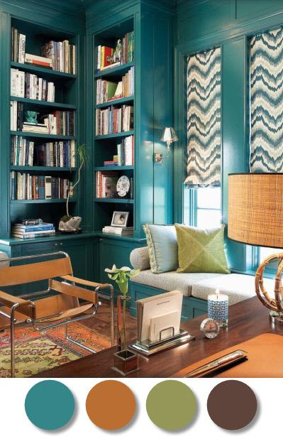 i have this green in living room... teal in the dining room? This may be what we are looking for!