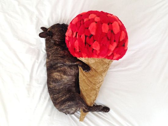 This ice cream cone would be perfect for a pillow fight.