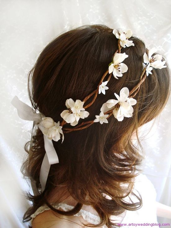 DIY wedding hairstyle - I love the flowers in the hair idea. I want this if I have a summer wedding =]