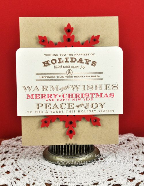 Christmas card by Dawn McVey for Papertrey Ink. #Christmas #cards #paper_crafting